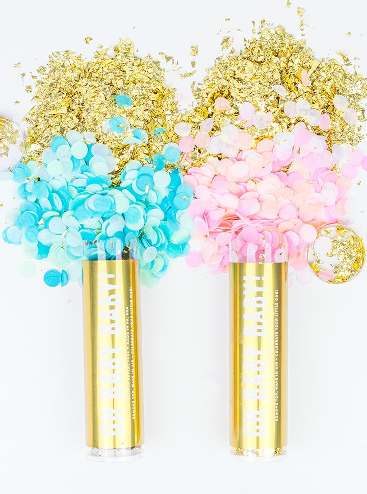 Gender Reveal Party Poppers- Girl - Revelry Goods