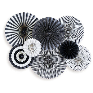 Black & White Party Fans - Revelry Goods