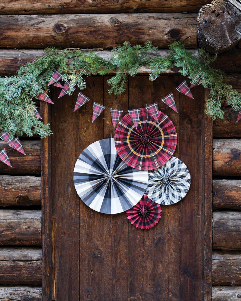 Load image into Gallery viewer, Plaid Party Fans - Revelry Goods