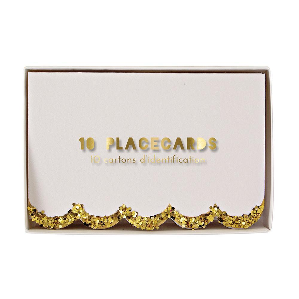 Gold Glitter Placecards - Revelry Goods