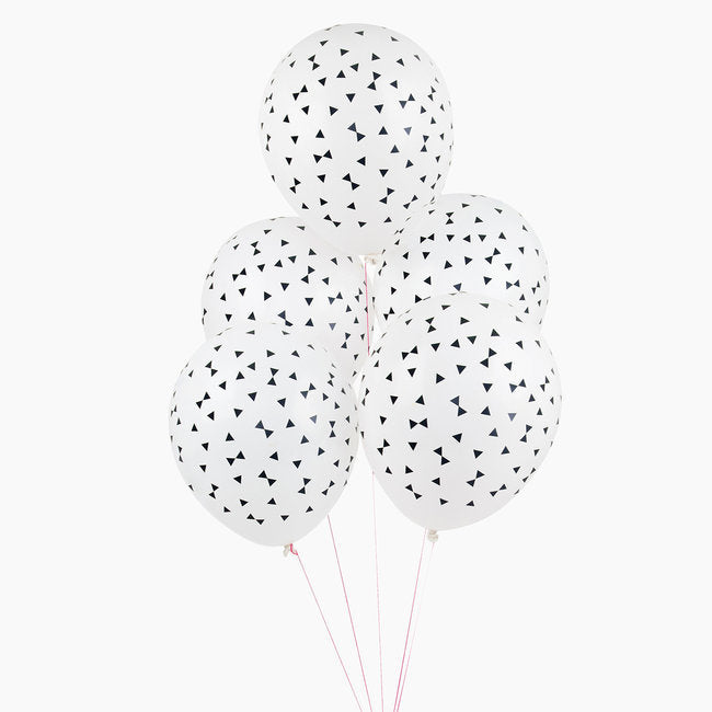 Black Tie Patterned Balloon Bundle - Revelry Goods