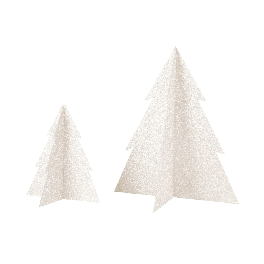 White Glitter Christmas Tree- 8 inch - Revelry Goods