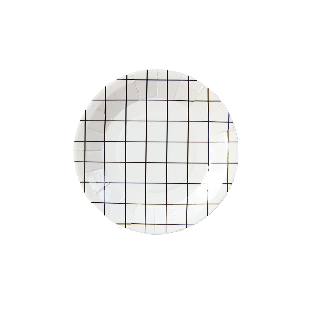 Grid Mini Canape Plates - Revelry Goods