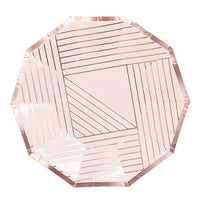 Manhattan Pale Pink Striped Small Plates - Revelry Goods