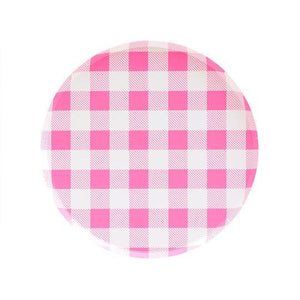Neon Rose Gingham Small Plates - Revelry Goods