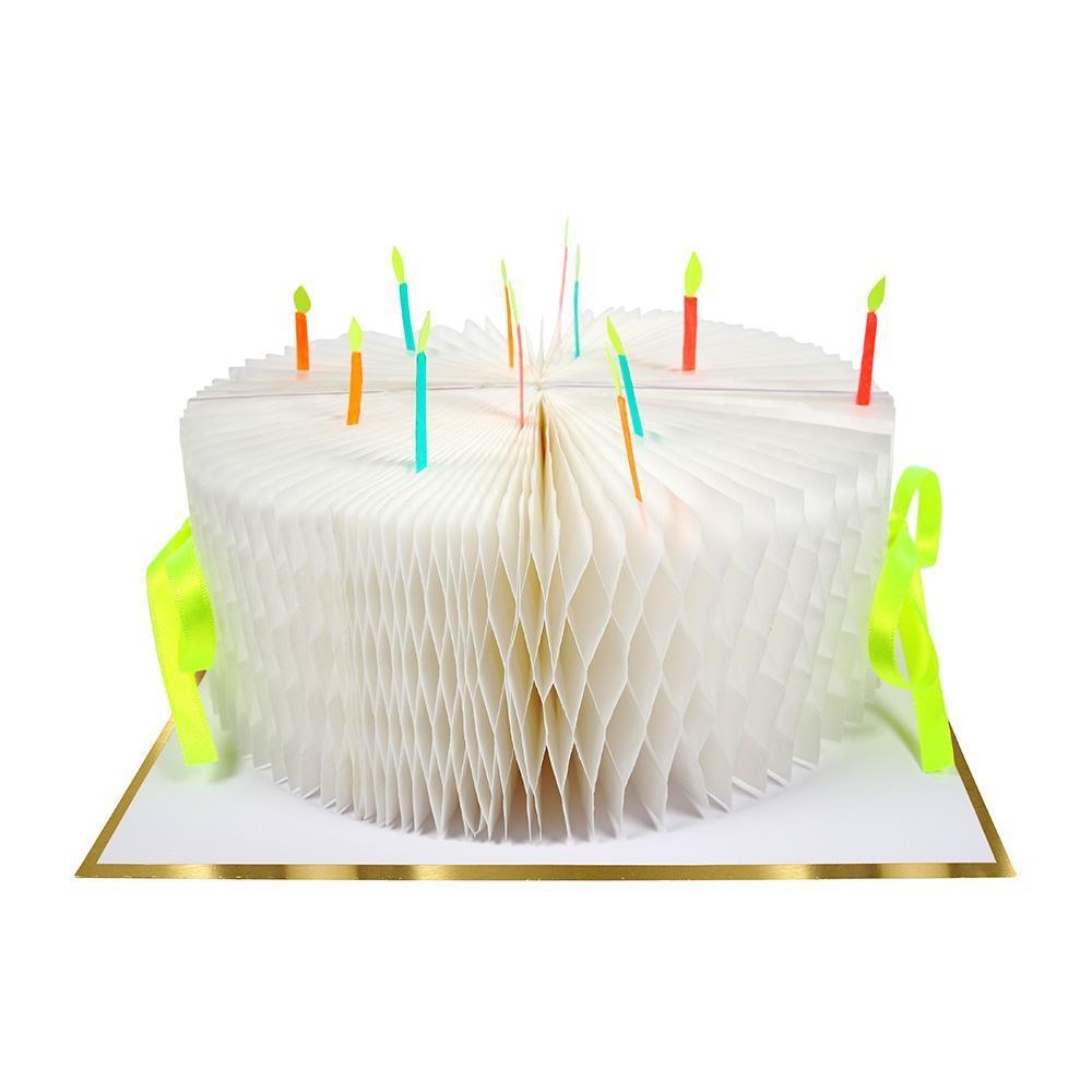 Birthday Cake Honeycomb Card