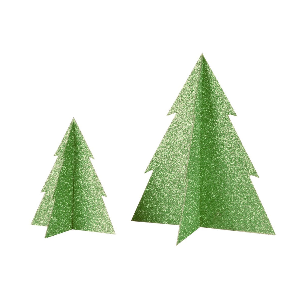 Green Glitter Christmas Tree- 8 inch