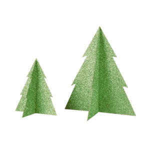 Load image into Gallery viewer, Green Glitter Christmas Tree- 8 inch - Revelry Goods