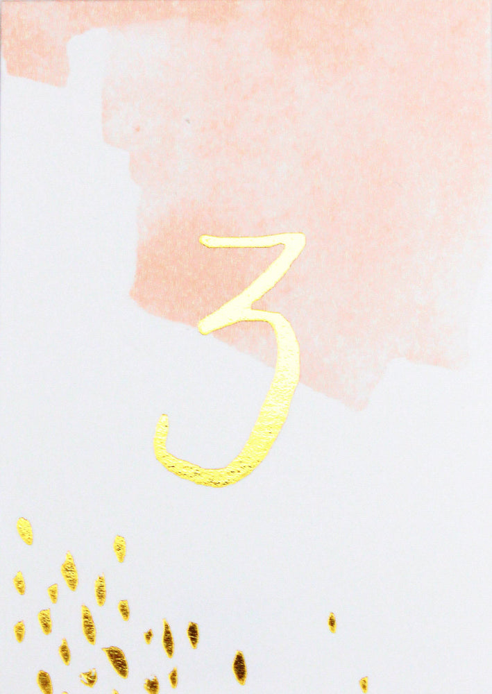 Daydream Peach Watercolor Paper Table Numbers 1-10