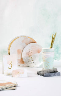 Daydream Peach Watercolor Paper Table Numbers 1-10 - Revelry Goods