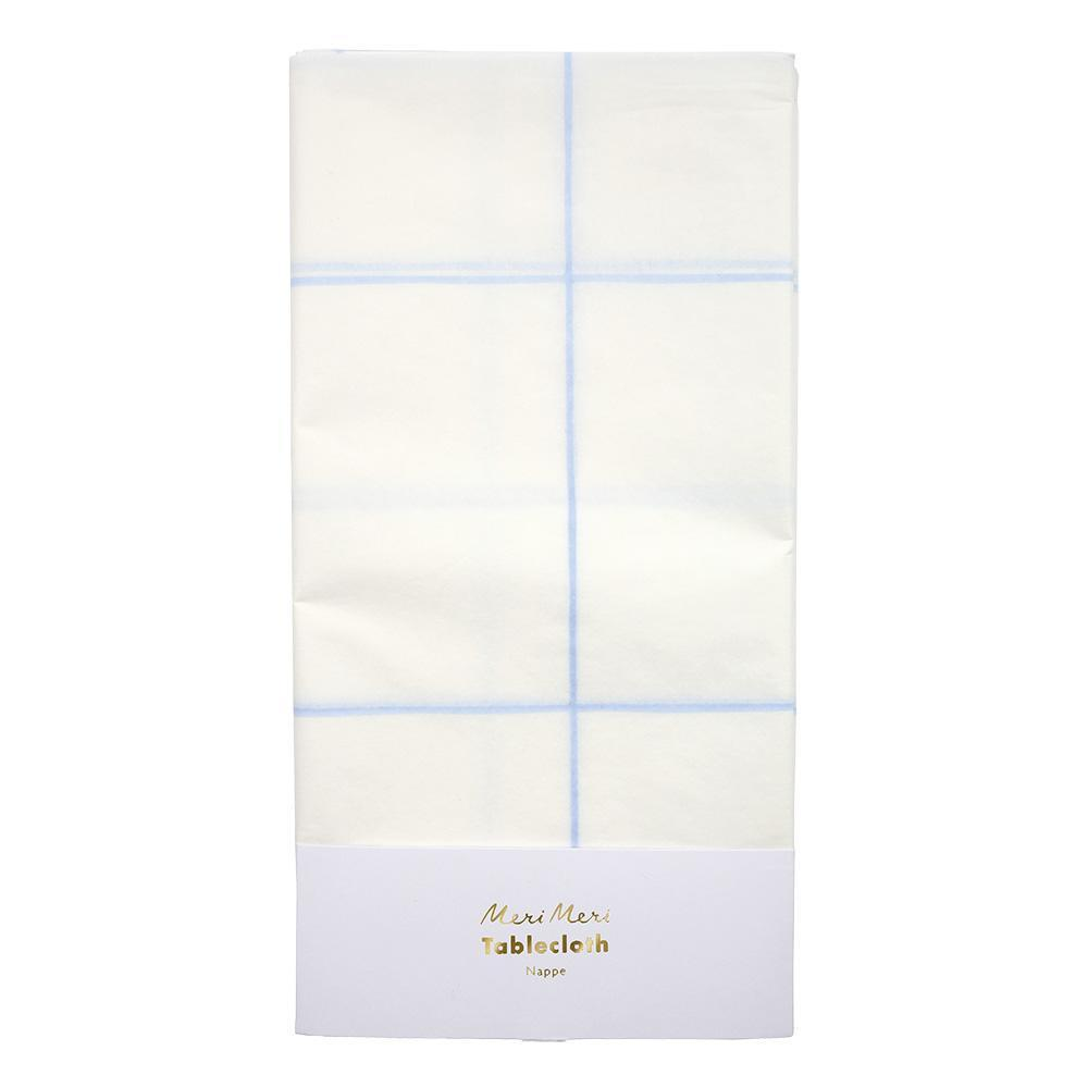 Blue Grid Table Cloth - Revelry Goods