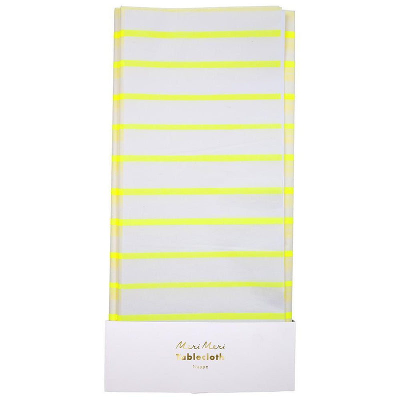 Meri Meri Yellow Striped Table Cloth from Revelry Goods modern party store