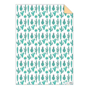 Load image into Gallery viewer, Cactus Gift Wrap Sheet - Revelry Goods