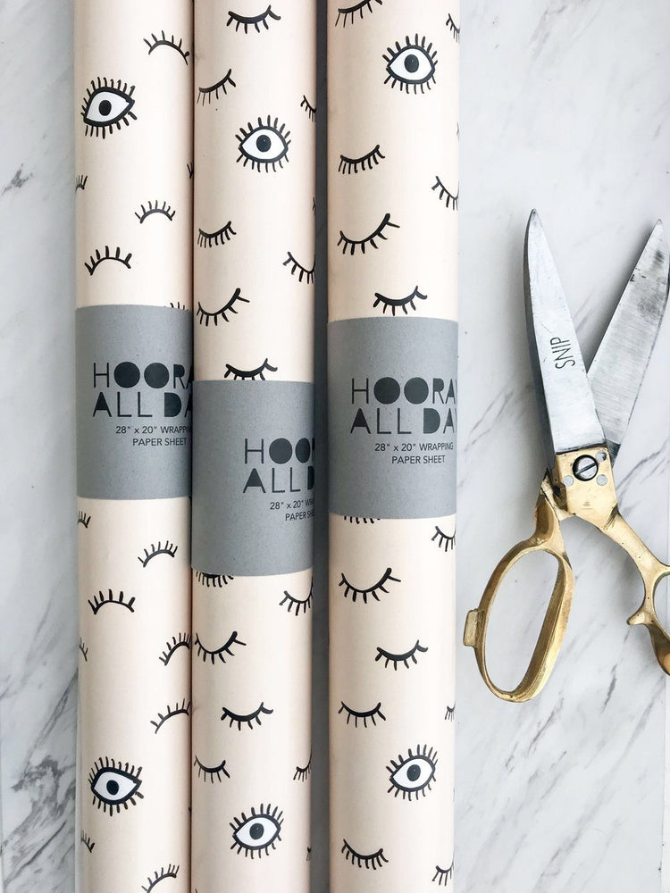 Flirty Eyes Wrapping Paper Sheet