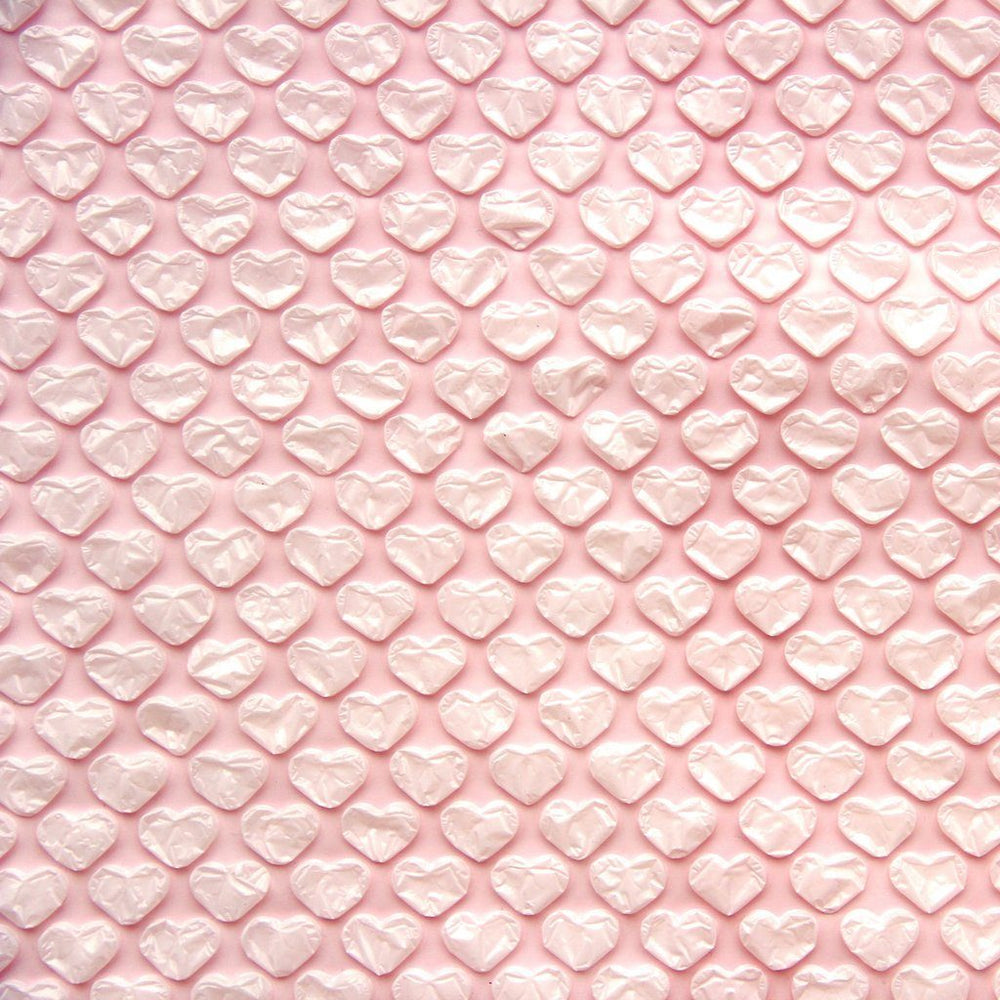 Light Pink Heart Bubble Wrap Sheet - Revelry Goods