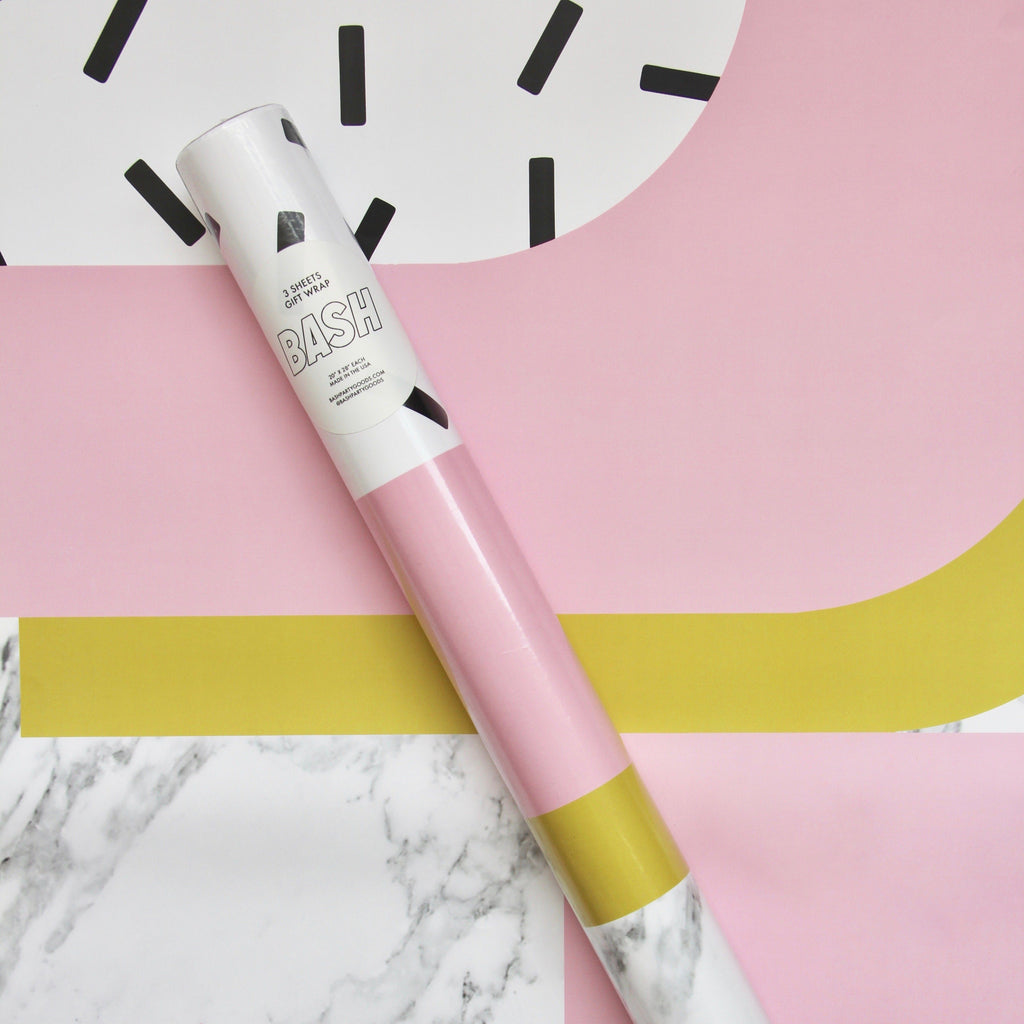 Pink Sprinkles Gift Wrap Roll - Revelry Goods