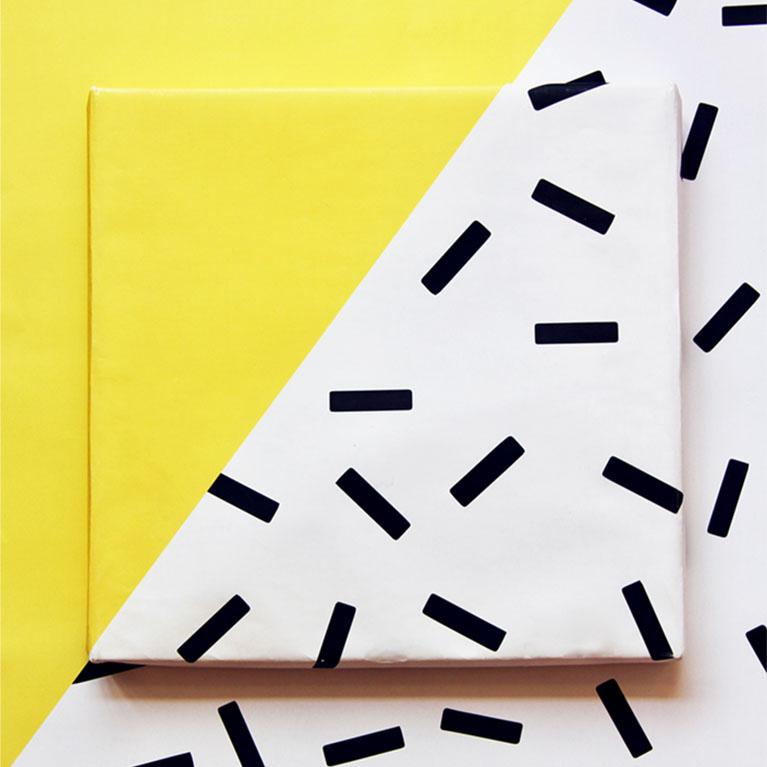 Yellow Sprinkles Gift Wrap