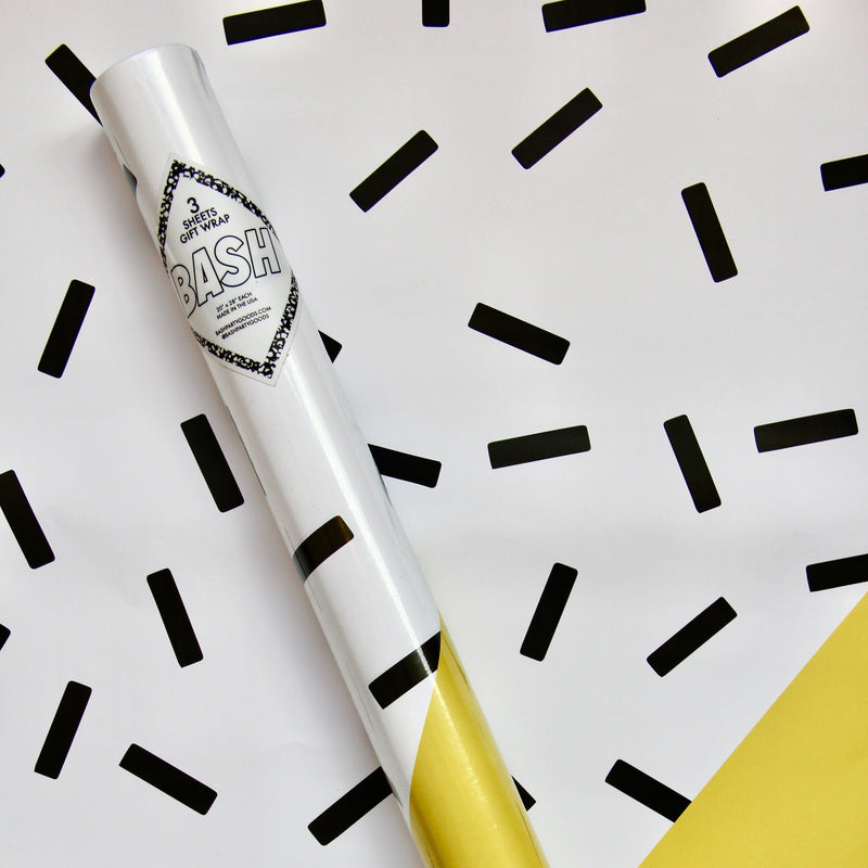 Bash Party Goods Yellow Sprinkles Gift wrap roll from Revelry Goods modern party shop