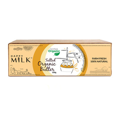 HAPPY MILK - ORGANIC SALTED BUTTER, 100 GM