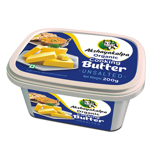 AK ORGANIC COOKING BUTTER UNSALTED 200 G