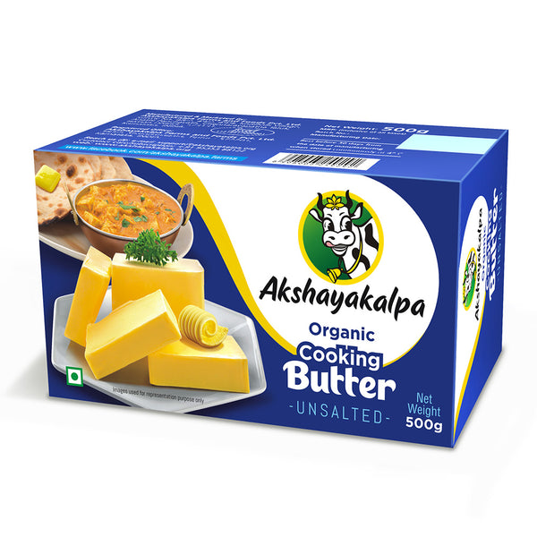 AKSH ORGANIC COOKING BUTTER UNSALTED 500GM