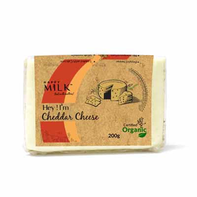 HAPPY MILK - ORGANIC CHEDDAR CHEESE 200 GM