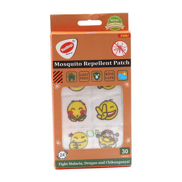 RUNBUGZ - MOSQUITO REPELLENT PATCHES IN ASSORTED DESIGNS, 30 PCS