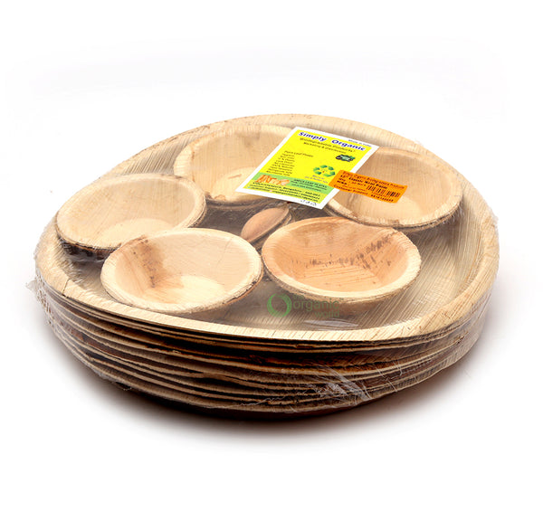 SIMPLY ORGANIC BIODEGRADABLE PRODUCTS - CLASSIC MEAL PALM, 12 INCH, 10 PCS