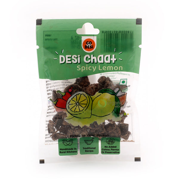 GO DESI - LEMON CHAAT POUCH, 18 GM