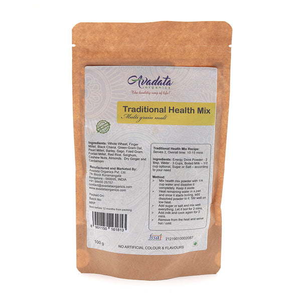AVADATA ORGANICS - TRADITIONAL HEALTH MIX, 100 GM
