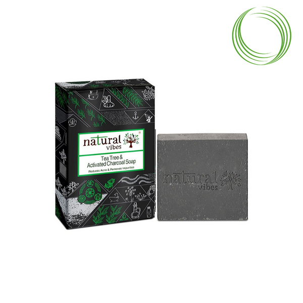 NATURAL VIBES CHARCOAL SOAP 150GM