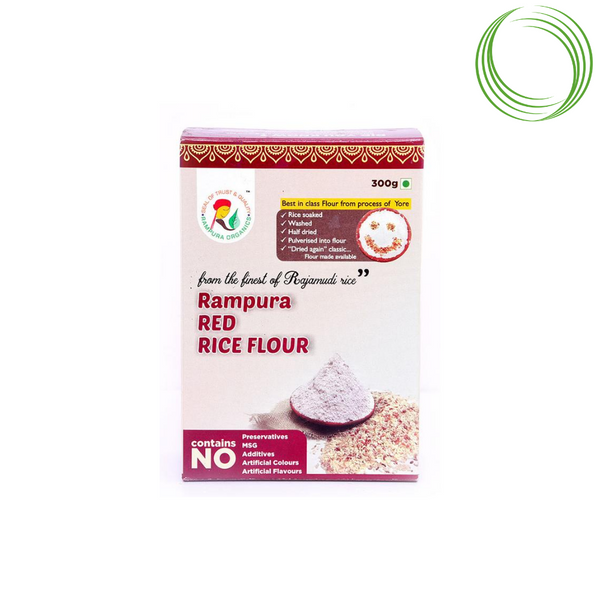 RAMPURA ORGANICS - RED RICE FLOUR, 300 GM