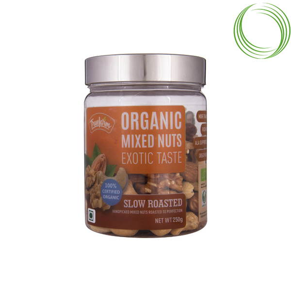 TRUEFARM ORGANIC ROASTED MIXED NUTS
