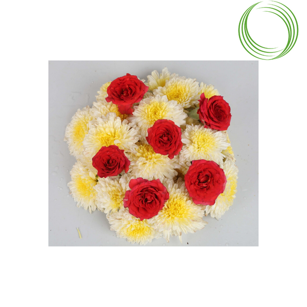 ROSE BAZAAR ASSORTED PUJA FLOWERS 100GM
