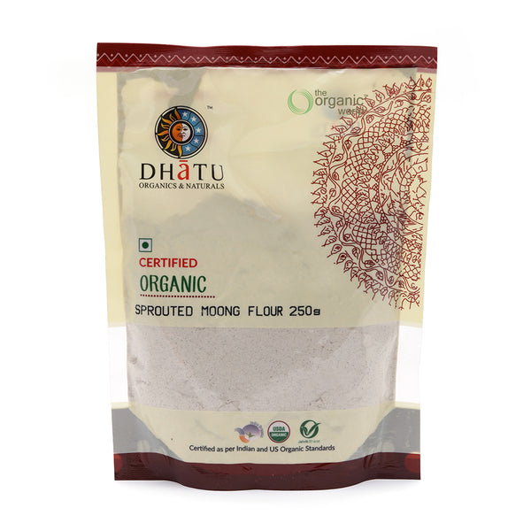 DHATU ORGANICS & NATURALS - SPROUTED MOONG FLOUR, 250 GM