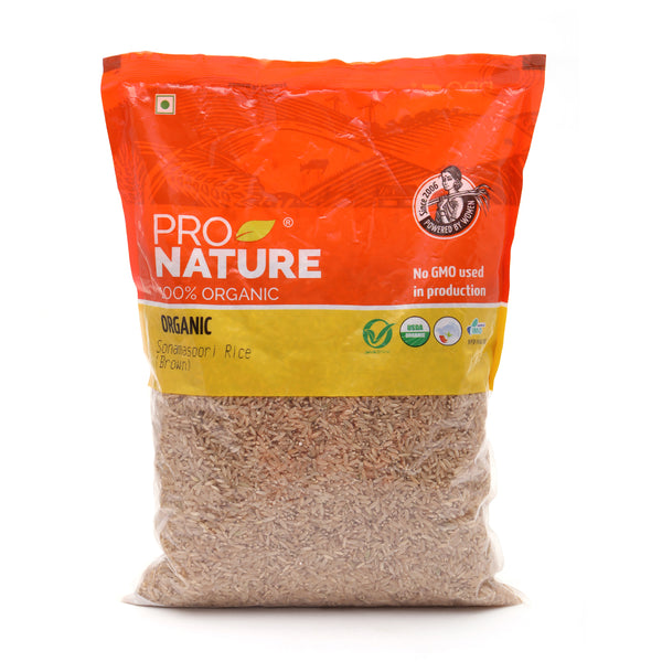 PRO NATURE - SONAMASURI BROWN RICE, 1 KG