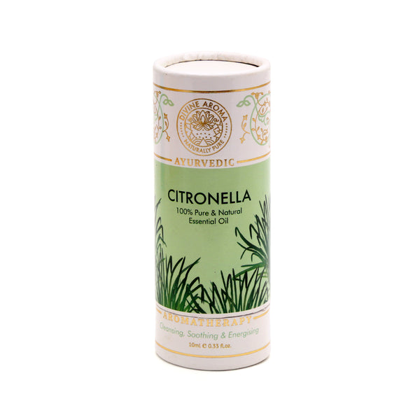 DIVINE AROMA - CITRONELLA ESSENTIAL OIL | 100% PURE & NATURAL, 10 ML