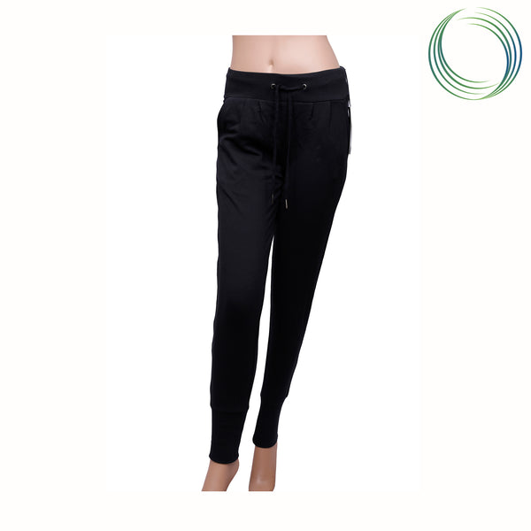 BLACK DRAP YOGA PANT