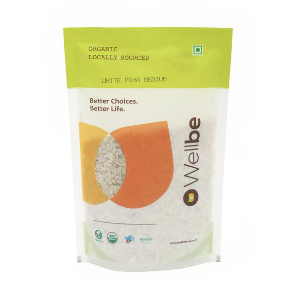 WELLBE WHITE POHA MEDIUM 500G