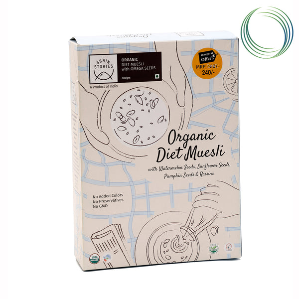 GRAINSTORIES WHEAT MUESLI  OMEGA NUTS - DIET 300GMS