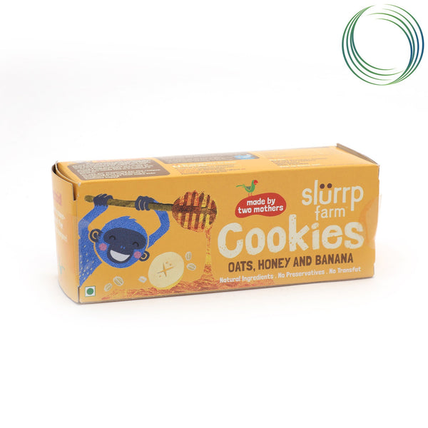 SLF OATS HONEY BANANA AND RAISIN COOKIES 75GM