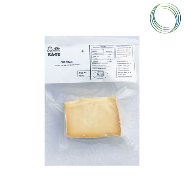 KASE PLAIN CHEDDAR CHEESE 150 GMS