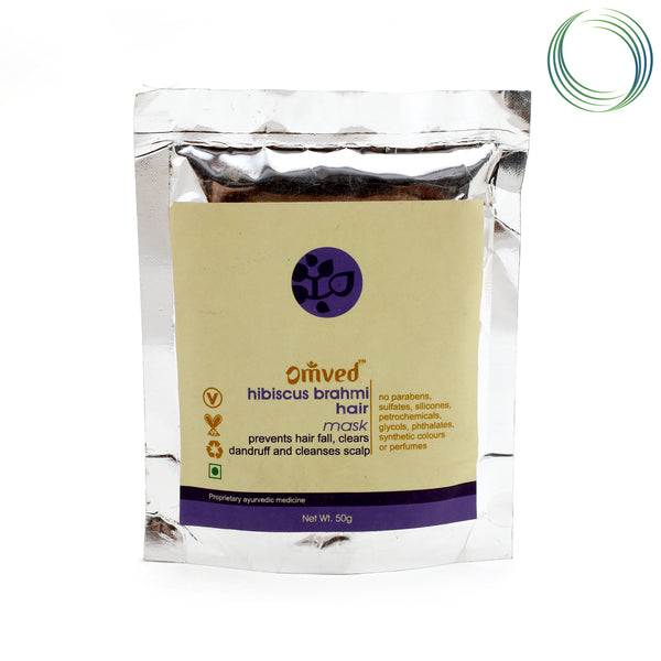OMVED HIBISCUS BRAHMI HAIR MASK 50GM
