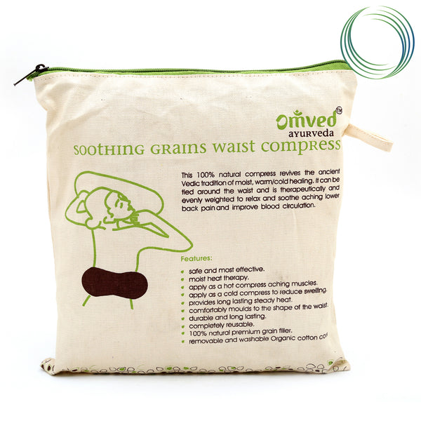 OMVED HOT & COLD SOOTHING GRAINS WAIST COMPRESS