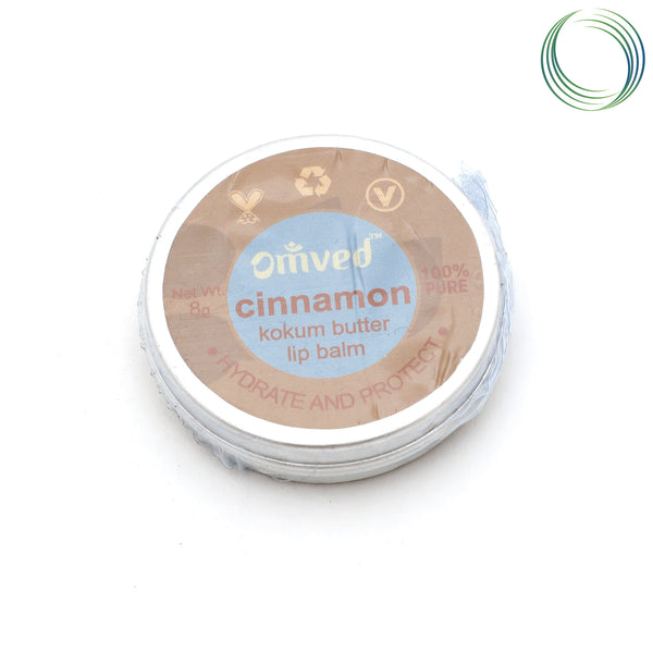 OMVED NATURAL CINNAMON LIP BALM 8GM