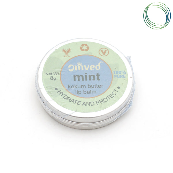 OMVED NATURAL MINT LIP BALM 8GM