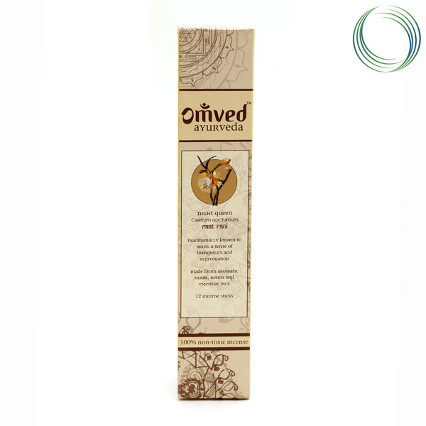 OMVED NIGHTQUEEN AYURVEDIC INCENSE STICKS 12STICKS
