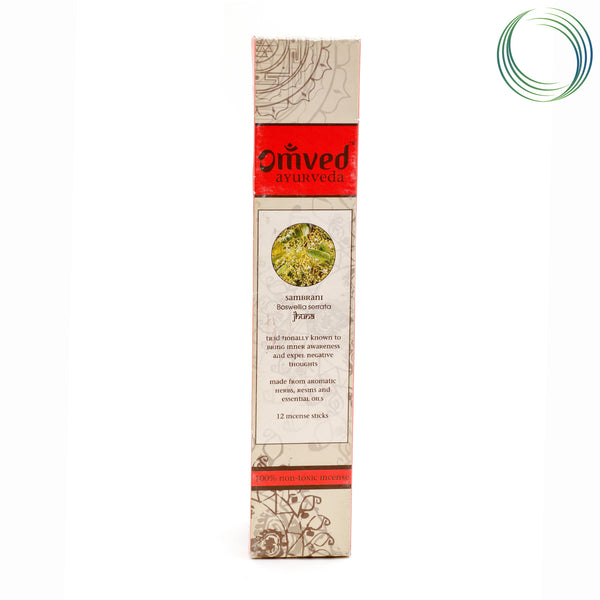 OMVED SAMBRANI AYURVEDIC INCENSE STICKS 12STICKS