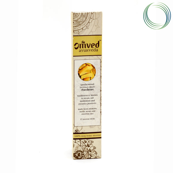 OMVED SANDALWOOD AYURVEDIC INCENSESTICKS 12 STICKS