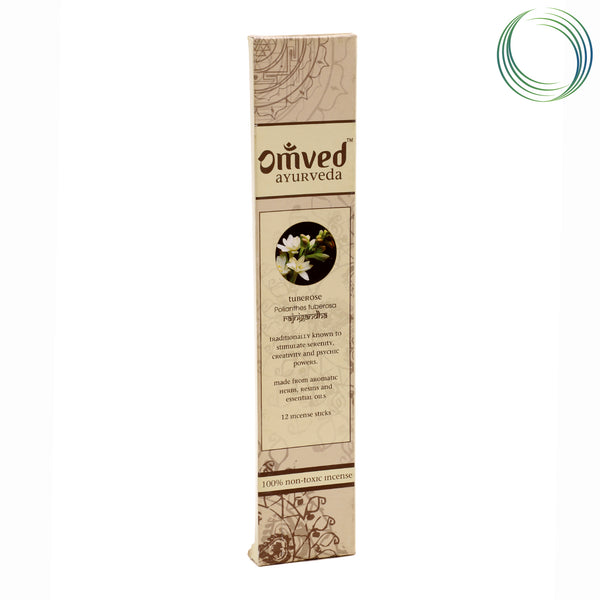 OMVED TUBEROSE AYURVEDIC INCENSE STICKS 12STICKS
